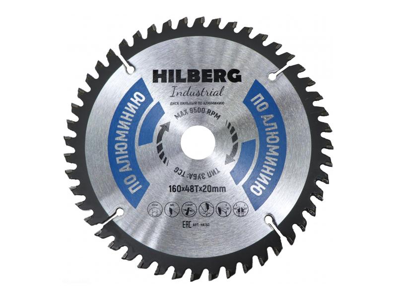 Диск Trio Diamond Hilberg Industrial HA160 пильный по алюминию 160x20mm 48 зуба