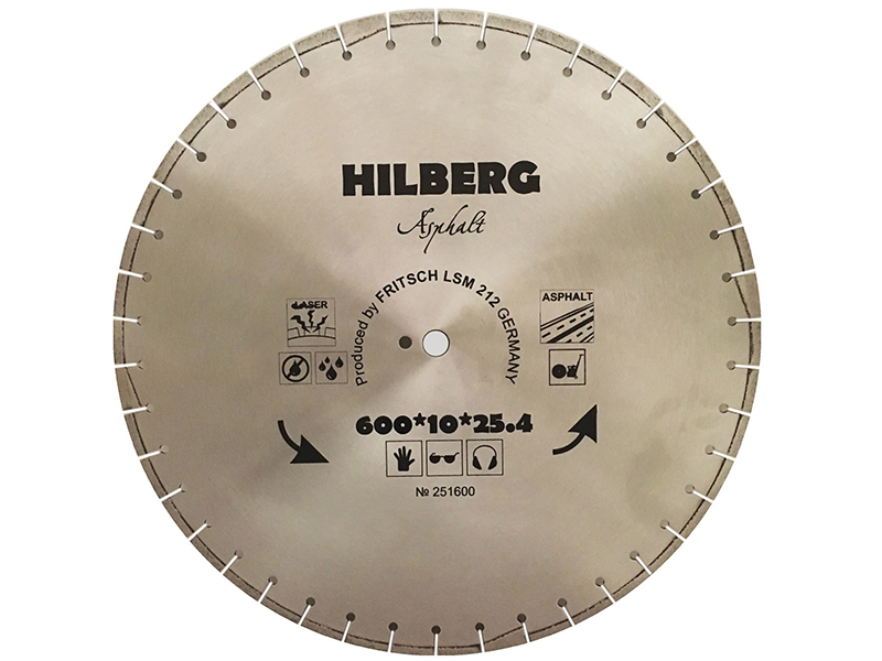 Диск Trio Diamond Hilberg Asphalt Laser 251600 алмазный по асфальту 600x11x25.4/12mm