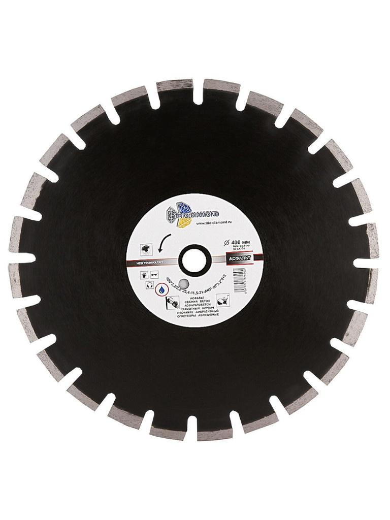 Диск Trio Diamond Grand Asphalt GA774 алмазный по асфальту 400x10x25.4/12mm