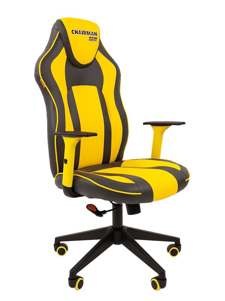 Компьютерное кресло Chairman Game 23 Grey-Yellow 00-07053958