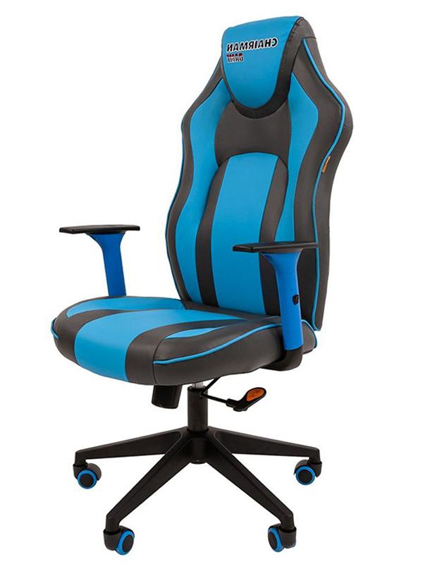 Компьютерное кресло Chairman Game 23 Grey-Light Blue 00-07053957