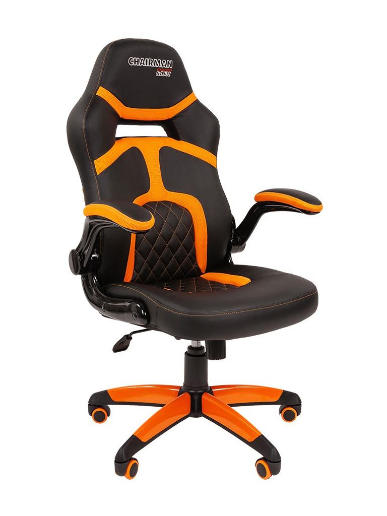 Компьютерное кресло Chairman Game 18 Black-Orange 00-07051190