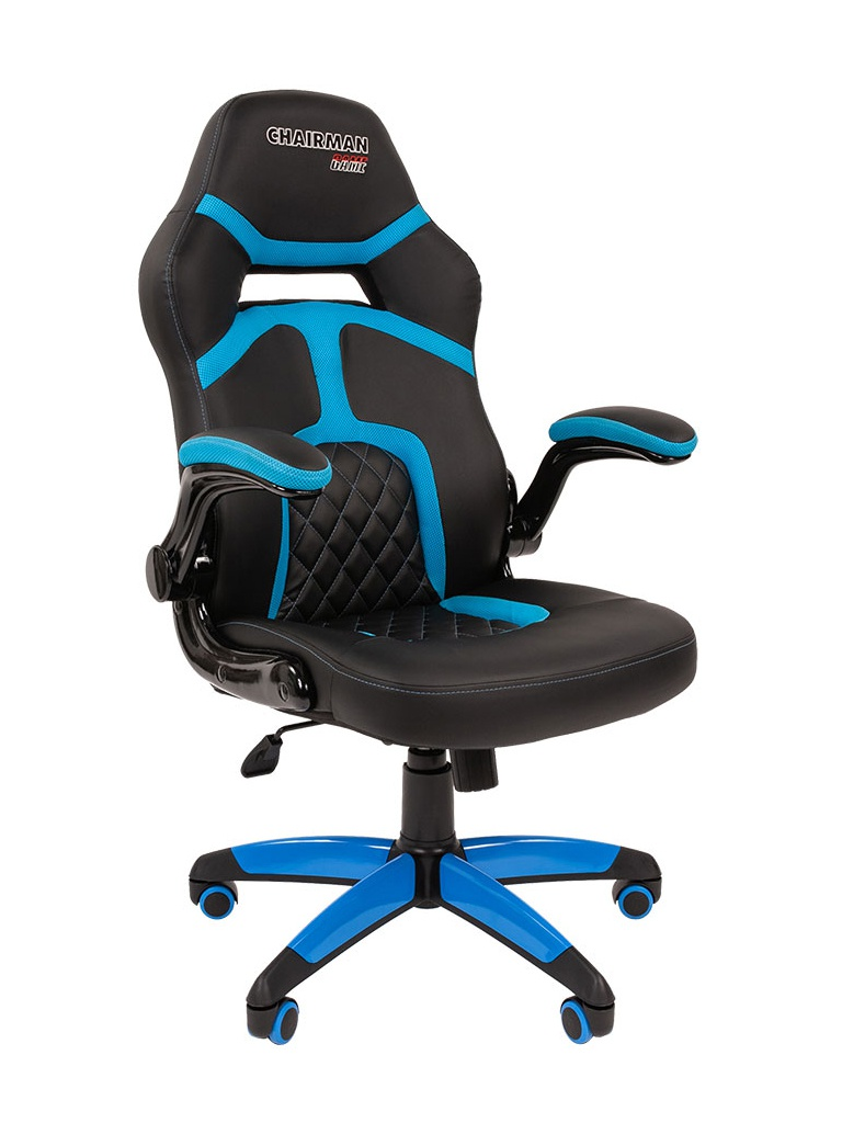 Компьютерное кресло Chairman Game 18 Black-Light Blue 00-07051188