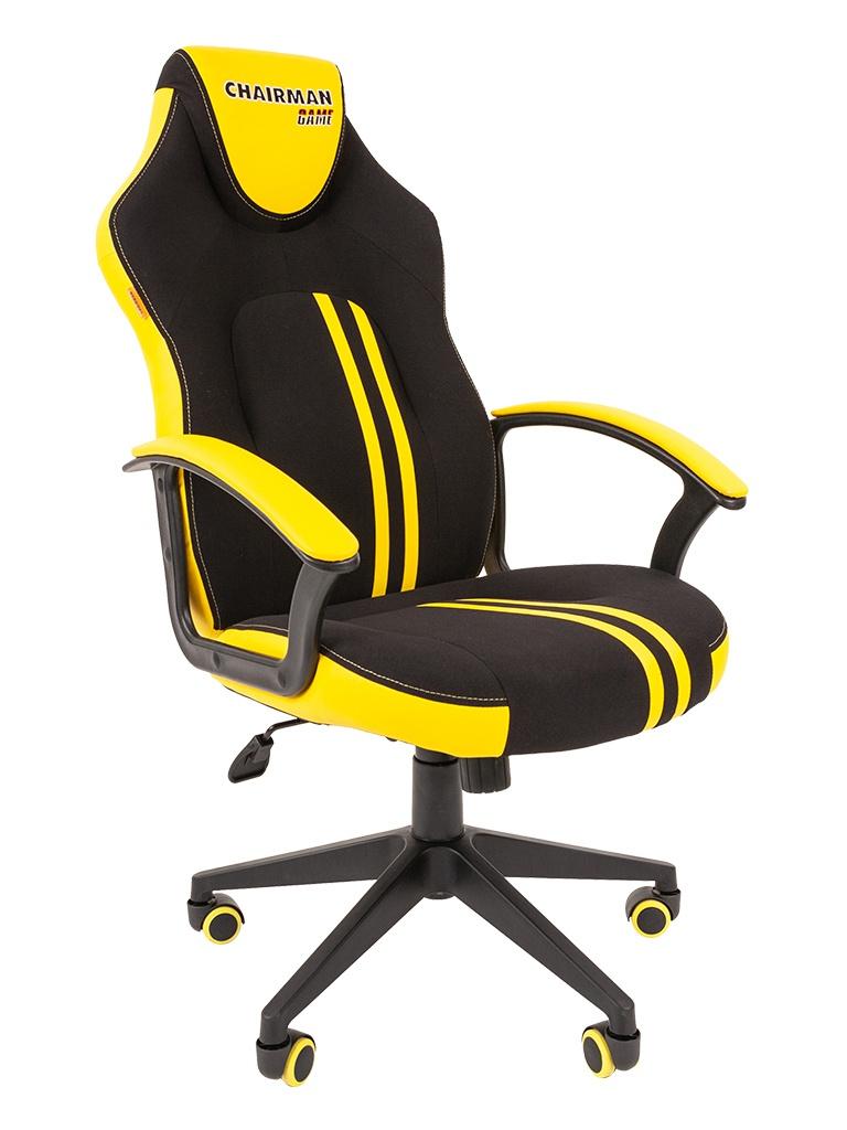 Компьютерное кресло Chairman Game 26 Black-Yellow 00-07053960
