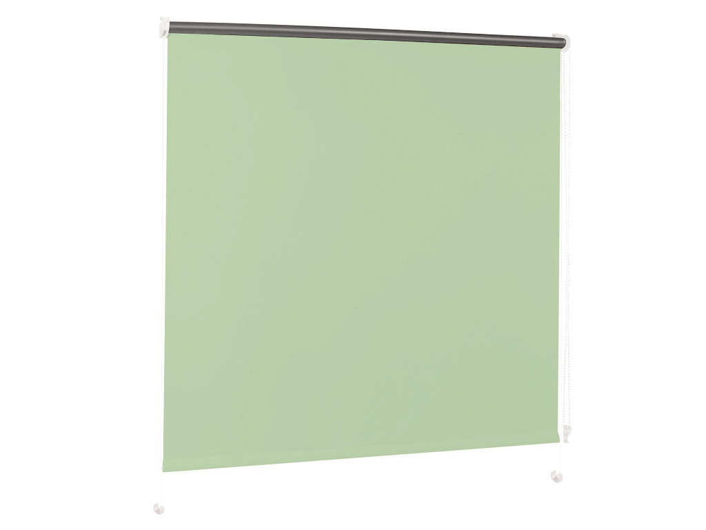 Штора рулонная Brabix 60x175cm Blackout Light Green-Silver D-14 / 606009