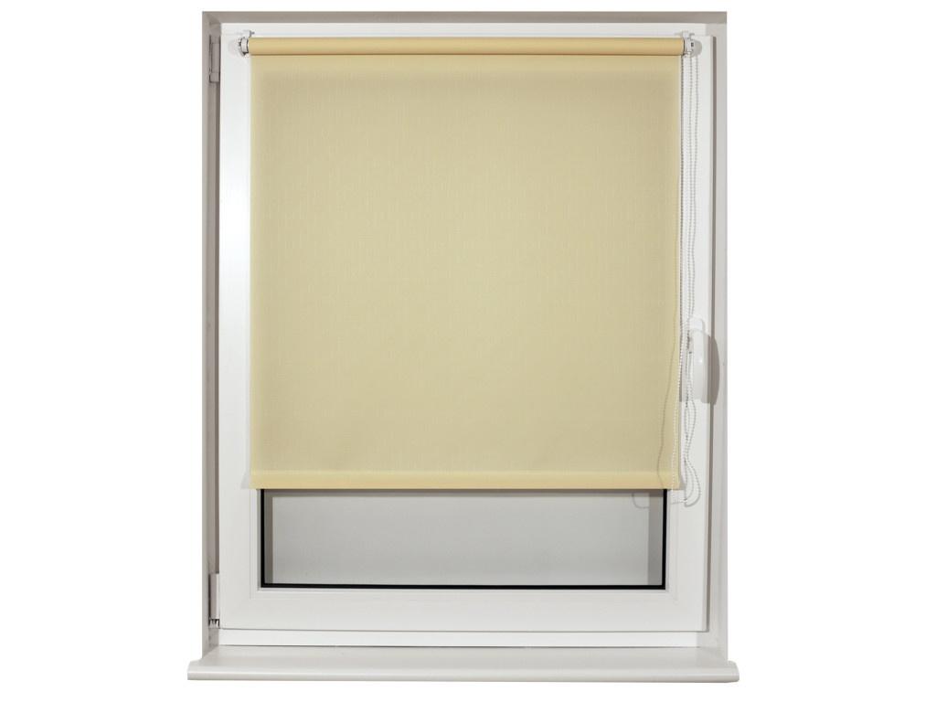Штора рулонная Brabix 80x175cm Лён Cream S-21 / 605993