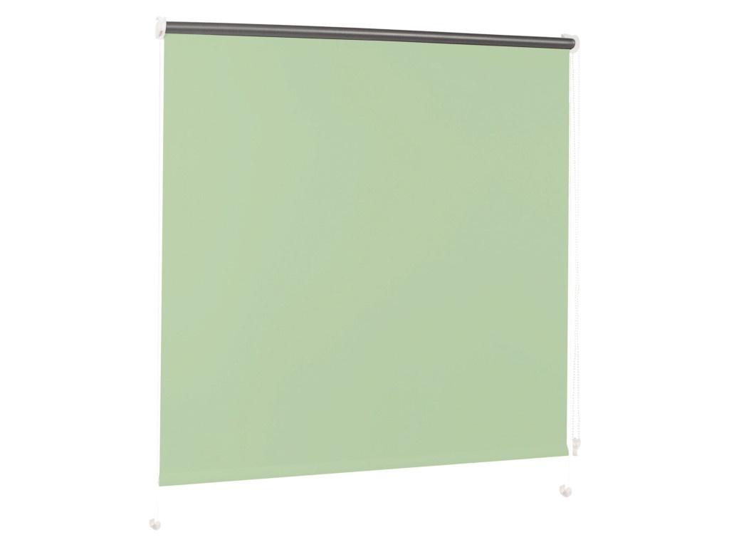 Штора рулонная Brabix 70x175cm Blackout Light Green-Silver D-14 / 606012