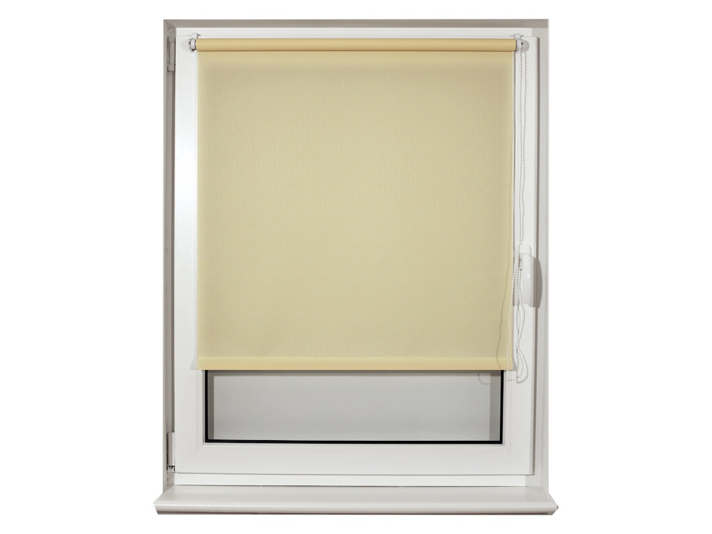 Штора рулонная Brabix 60x175cm Лён Cream S-21 / 605983