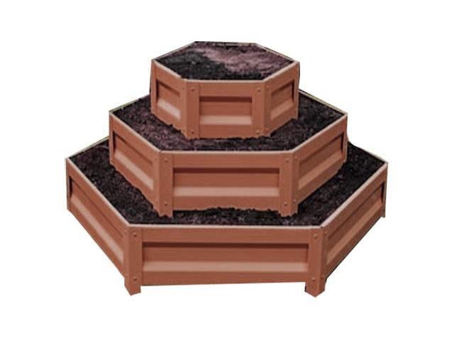 Клумба По уму Горка с полимерным покрытием Chocolate Brown 610148017