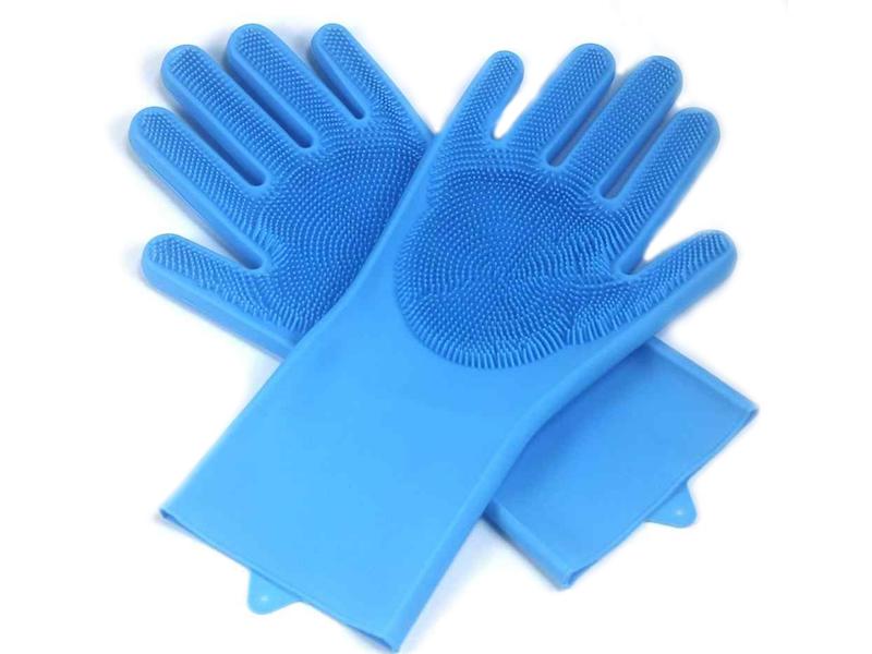 Силиконовые перчатки ZDK Light Blue Sil_0009