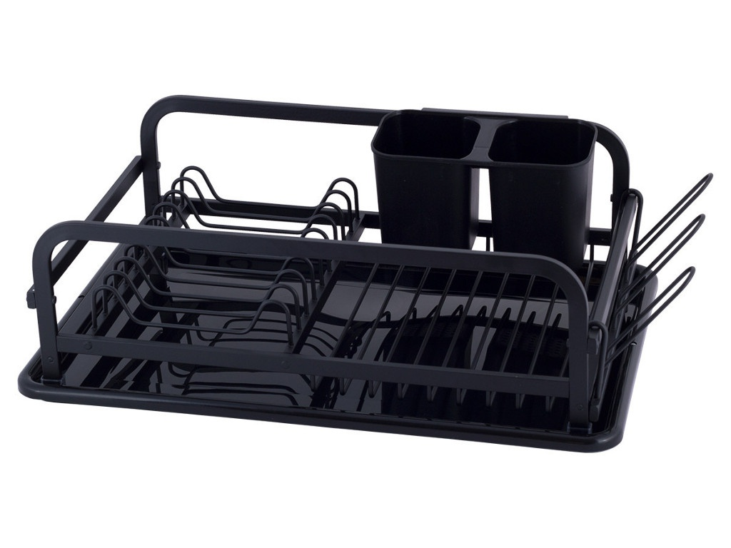 Сушилка для посуды Kamille 41x28x13.5cm Black 0752