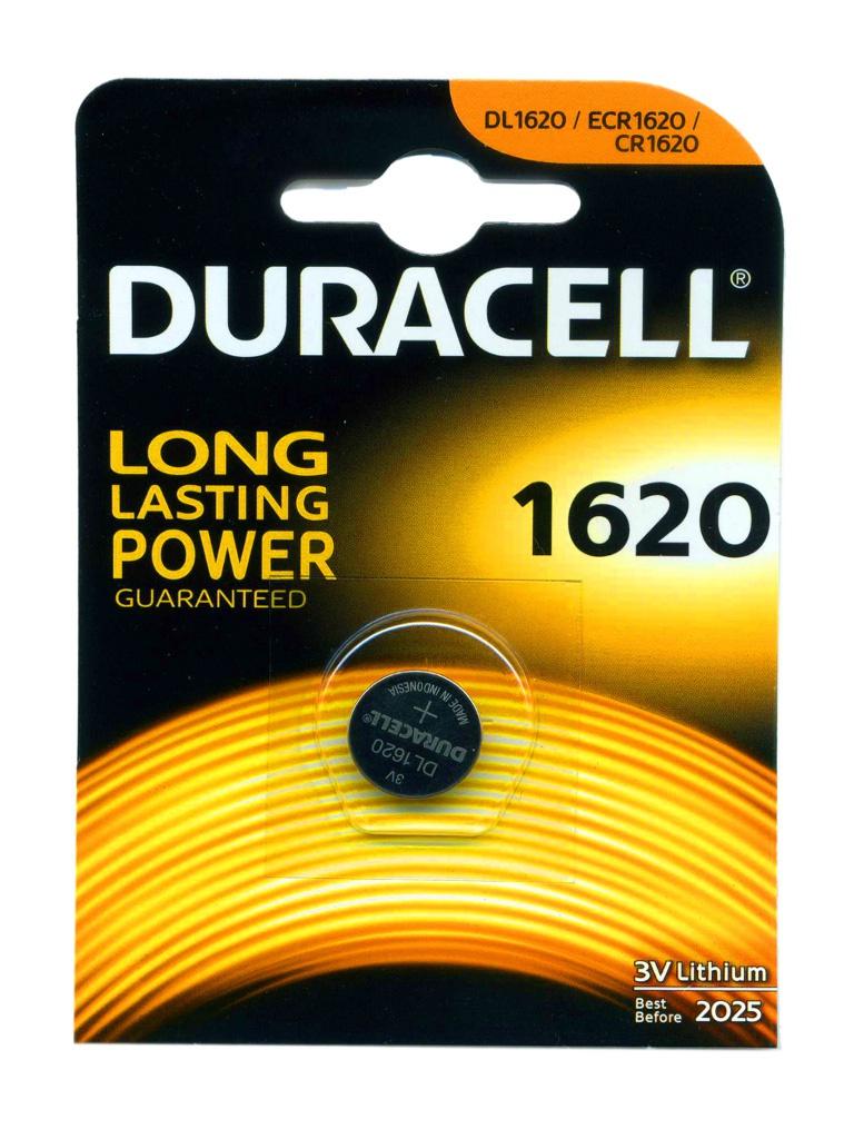 Батарейка CR1620 - Duracell DR CR1620/1BL