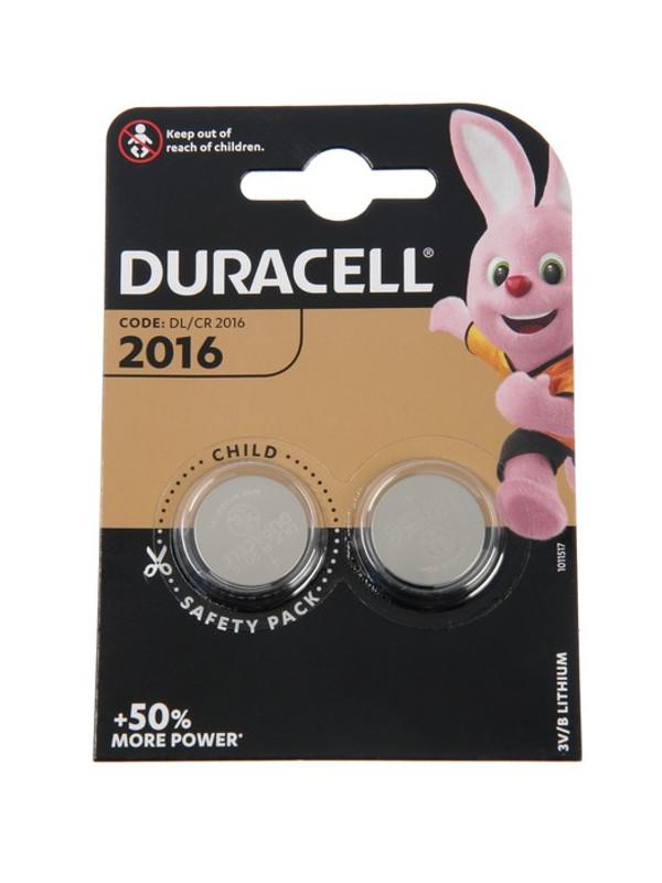 Батарейка CR2016 - Duracell DR CR2016/2BL