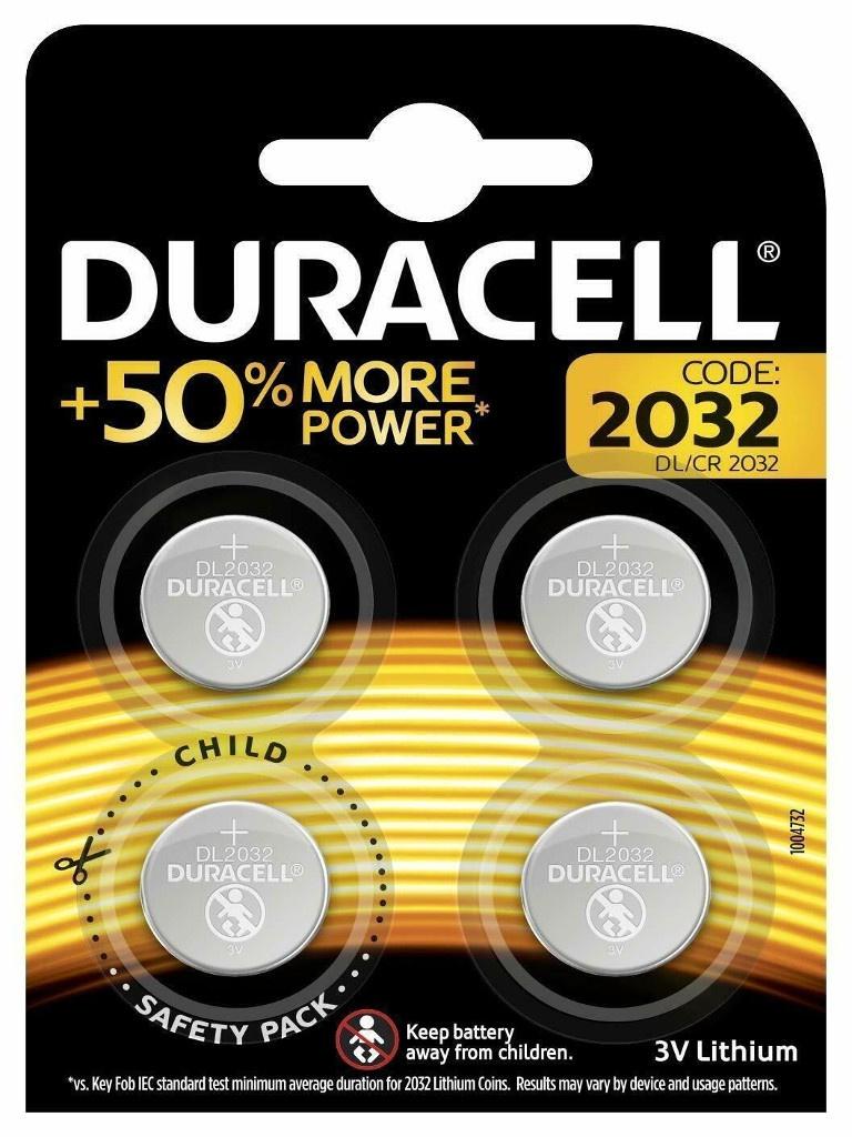Батарейка CR2032 - Duracell DR CR2032/4BL