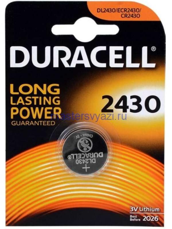 Батарейка CR2430 - Duracell DR CR2430/1BL