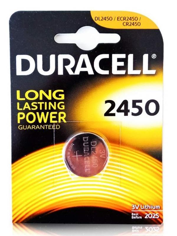 Батарейка CR2450 - Duracell DR CR2450/1BL