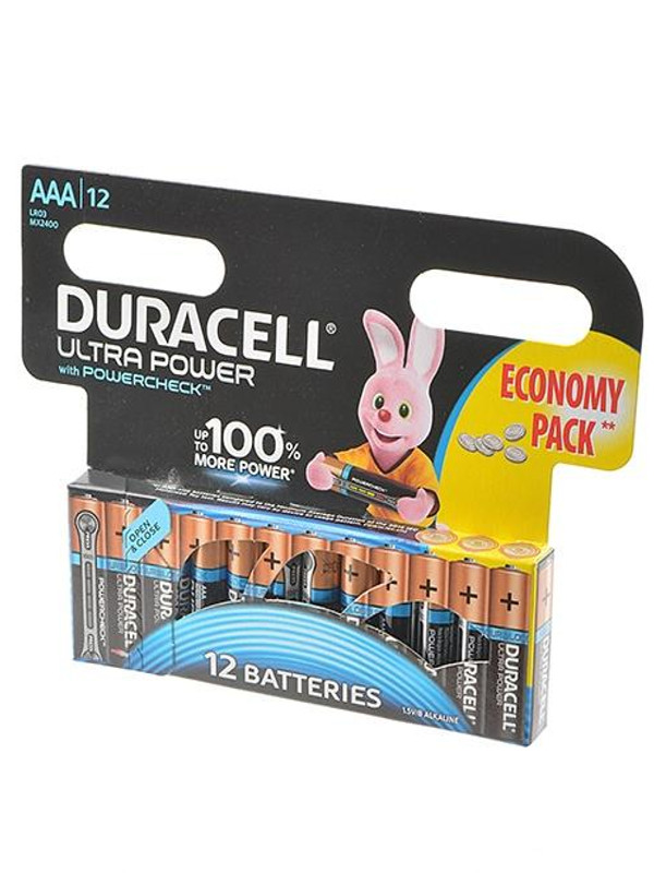 Батарейка AAA - Duracell LR03 12BL Ultra Power (12 штук) DR LR03/12BL UL PW