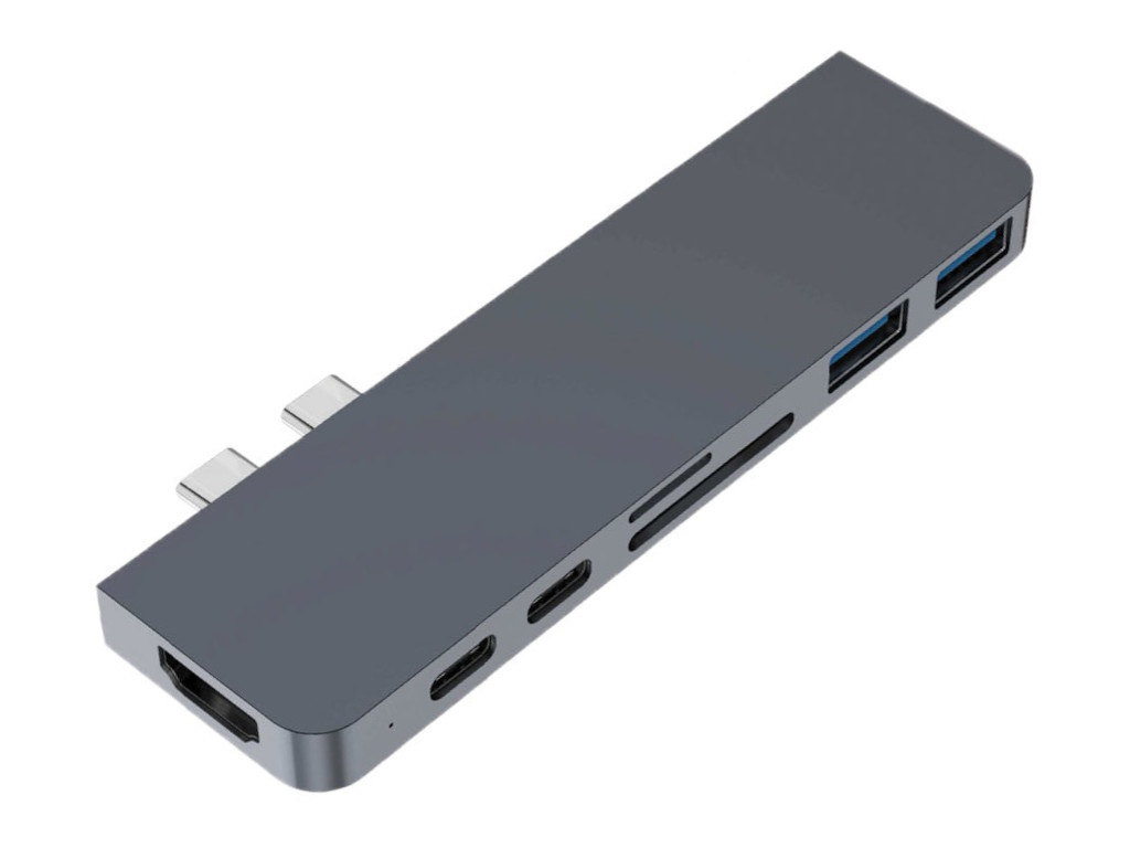 Аксессуар Хаб USB HyperDrive Hyper DUO 7-in-2 Hub HD28C-GRAY