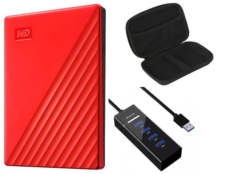 Жесткий диск Western Digital My Passport 2Tb Red WDBYVG0020BRD-WESN Выгодный набор + серт. 200Р!!!