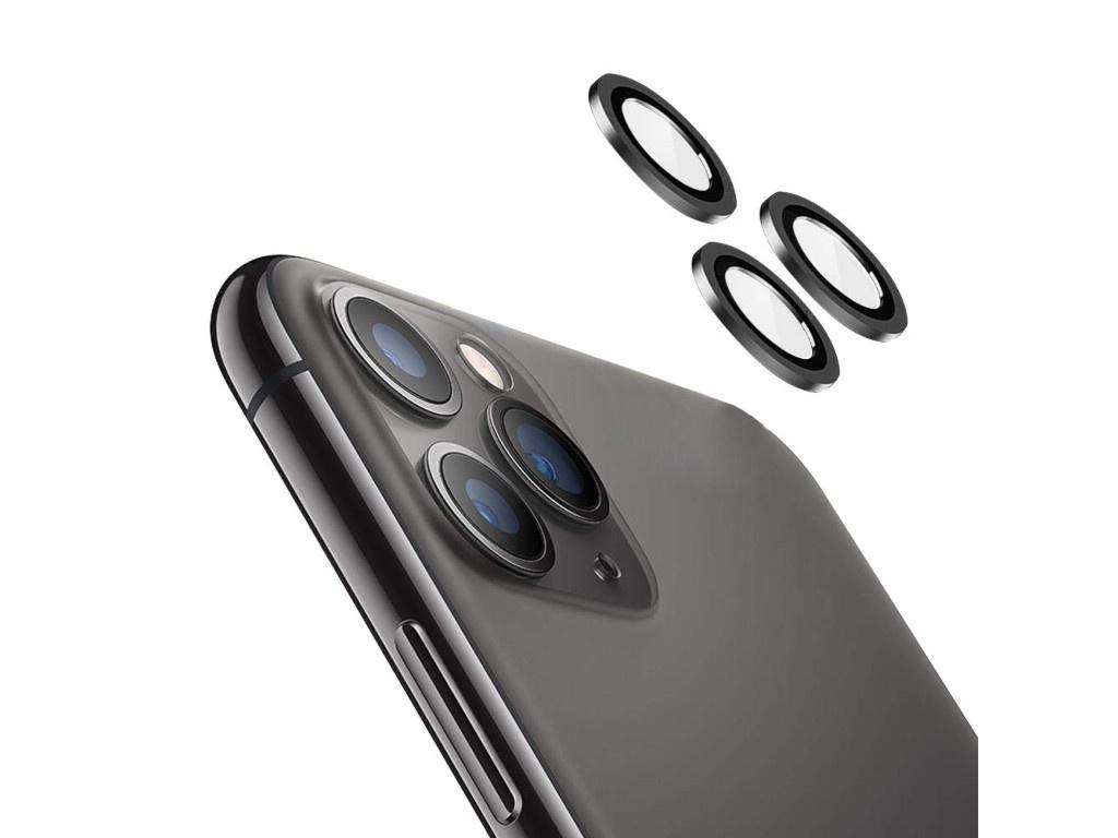 Защитное стекло Hoco для камеры APPLE iPhone 11 Pro/11 Pro Max 3D Metal Frame Flexible Lens Film A18 0.3mm Black 0L-00044726