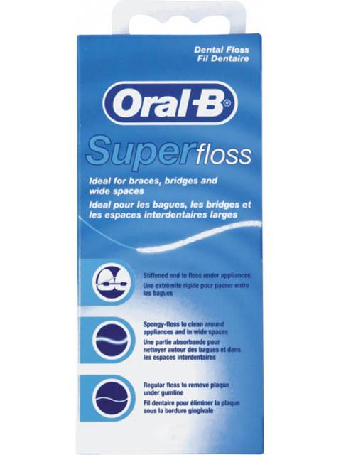 Зубная нить Oral-B Super Floss 50m 5010622008204