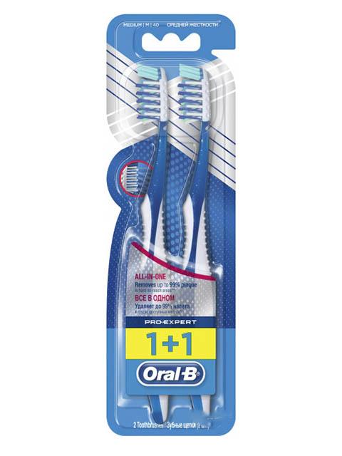 Щетка Oral-B Pro-Expert Medium Все в одном 1+1шт 3014260022051