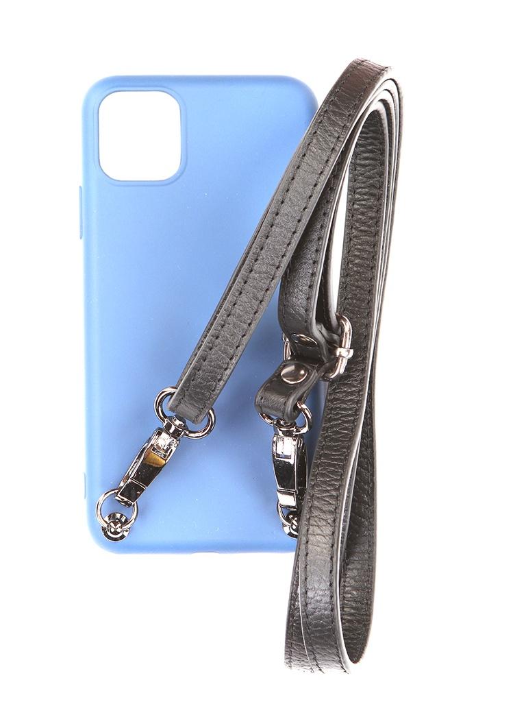 Чехол Ally для APPLE iPhone 11 Pro Max А1 Soft Touch с ремешком Blue A1-01108