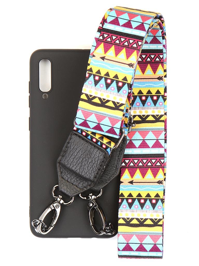 Чехол Ally для Samsung SM-A705 Galaxy A70 А4 Soft Touch с ремешком Black A4-01114