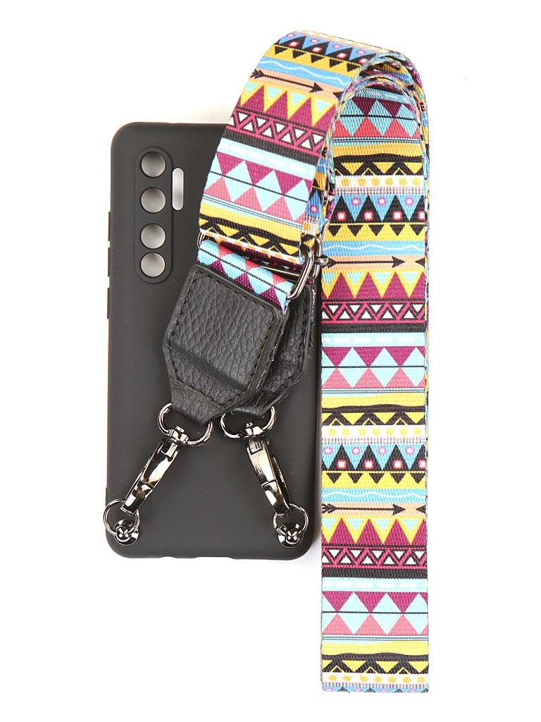 Чехол Ally для Xiaomi Mi Note 10 Lite А4 Soft Touch с ремешком Black A4-01127