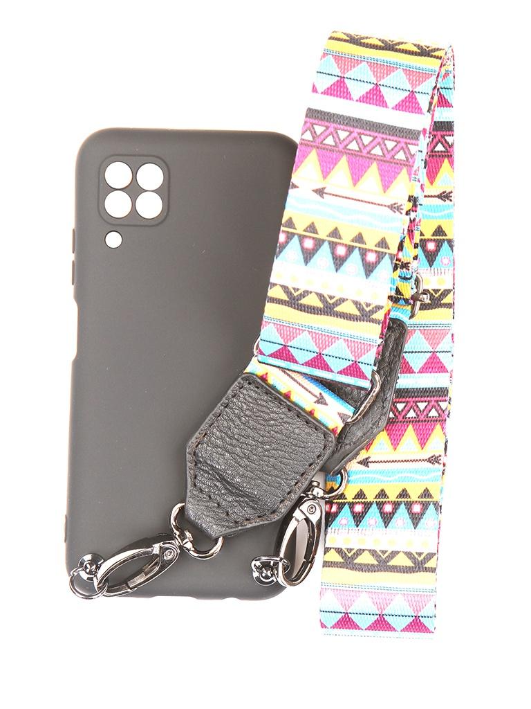 Чехол Ally для Huawei P40 Lite А4 Soft Touch с ремешком Black A4-01145