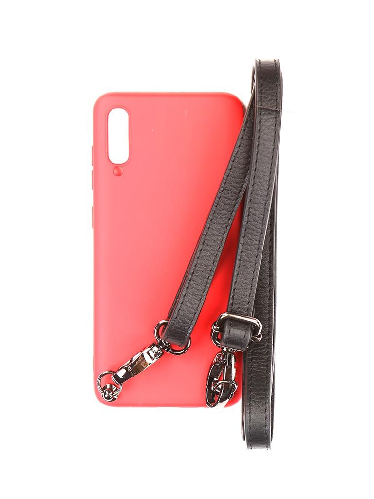 Чехол Ally для Samsung A705 Galaxy A70 А1 Soft Touch с ремешком Red A1-01112