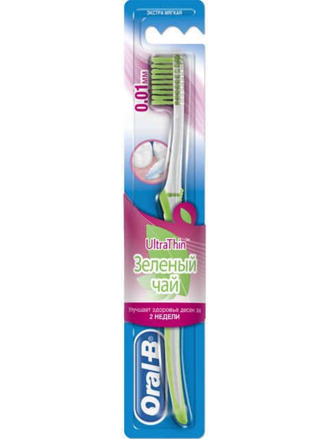 Щетка Oral-B UltraThin Soft Зеленый чай 3014260094539