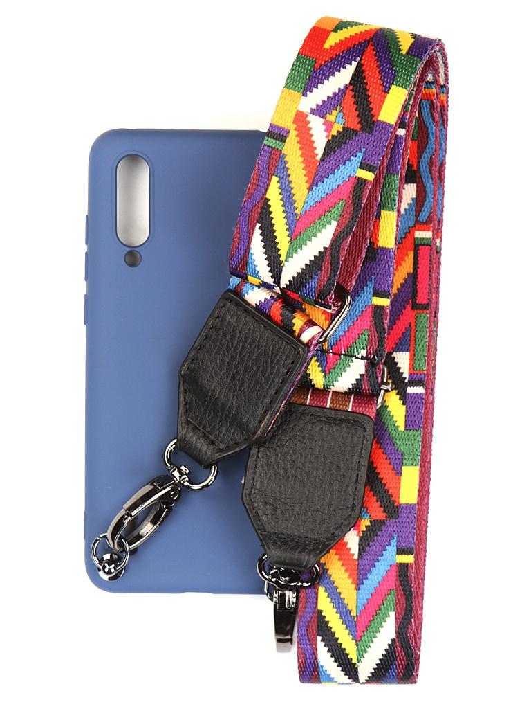 Чехол Ally для Xiaomi Mi 9 Lite А5 Soft Touch с ремешком Blue A5-01124