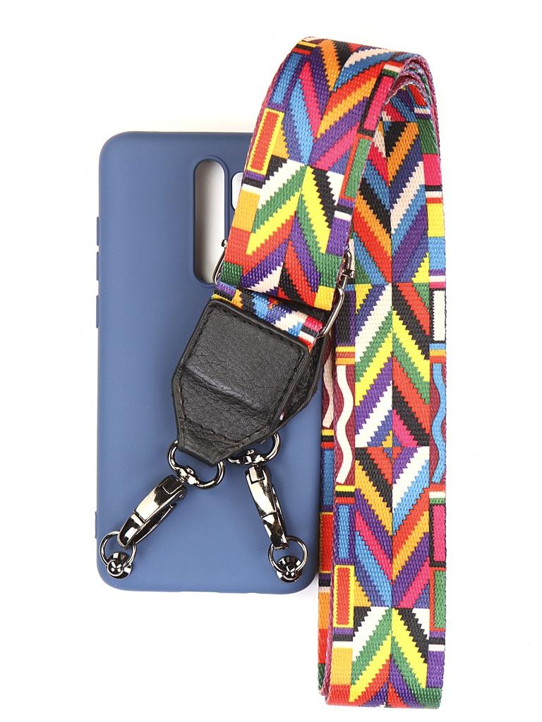 Чехол Ally для Xiaomi Redmi Note 8 Pro А5 Soft Touch с ремешком Blue A5-01130