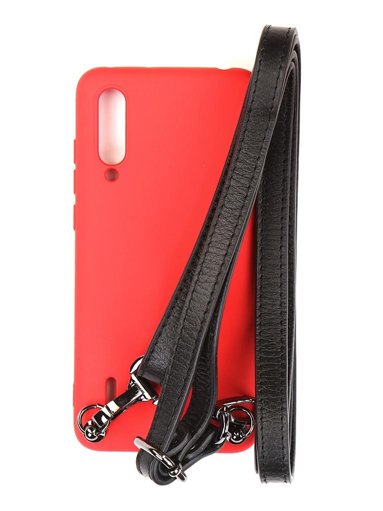 Чехол Ally для Xiaomi Mi 9 Lite А1 Soft Touch с ремешком Red A1-01123