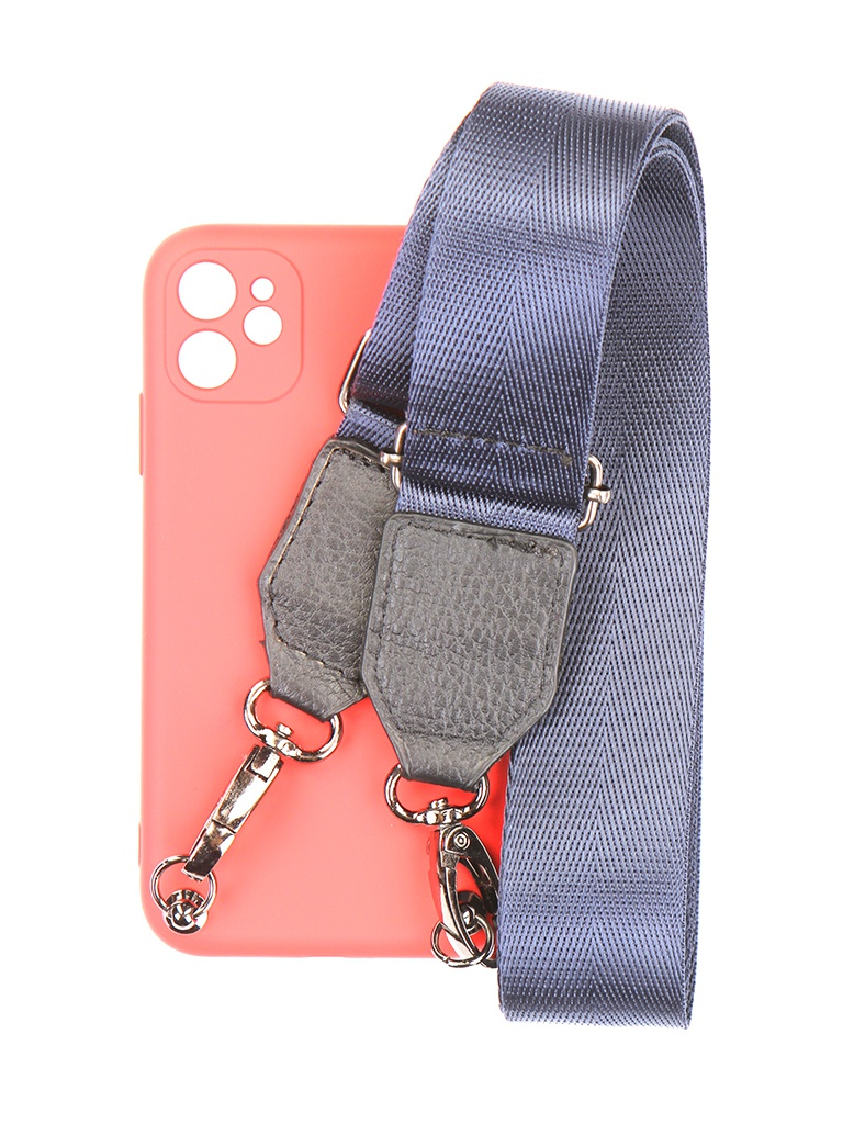 Чехол Ally для IPhone 11 А6 Soft Touch с ремешком Red A6-01101