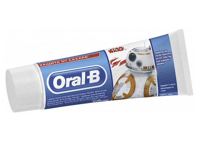 Зубная паста Oral-B Junior Star Wars Нежная мята 75ml 8001090655141