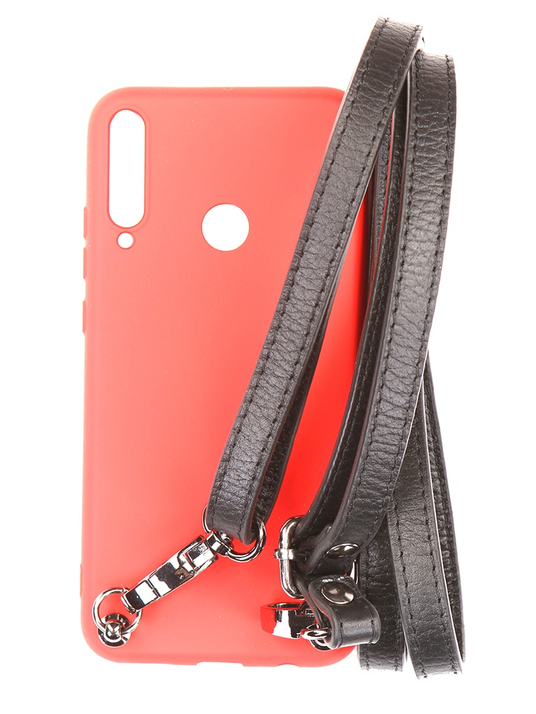 Чехол Ally для Huawei P40 Lite А6 Soft Touch с ремешком Red A6-01143