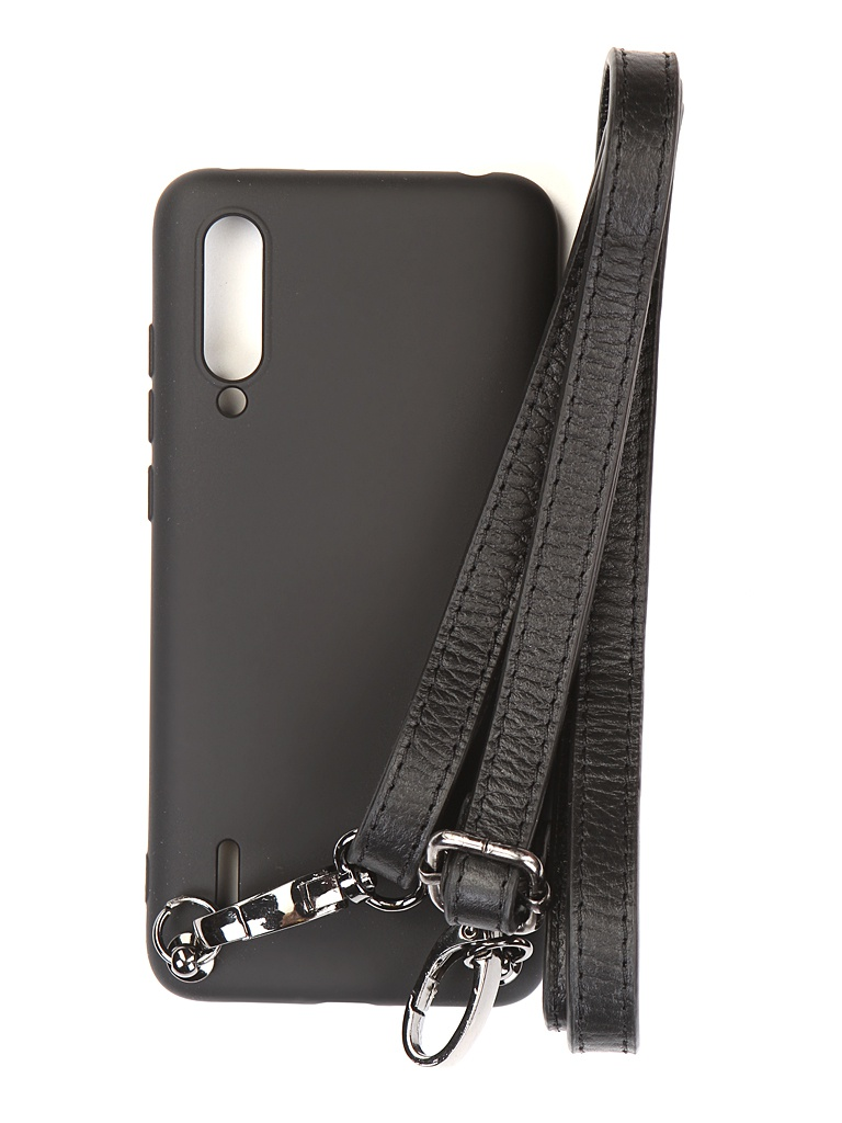 Чехол Ally для Xiaomi Mi 9 Lite А1 Soft Touch с ремешком Black A1-01125