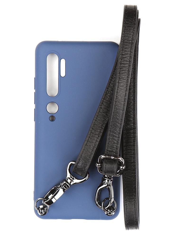 Чехол Ally для Xiaomi Mi Note 10 А1 Soft Touch с ремешком Blue A1-01128