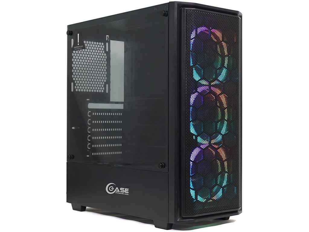 Корпус Powercase Alisio Mesh M3 ARGB Tempered Glass Black CASMB-A3