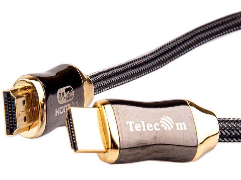 Фото - Аксессуар Telecom HDMI 19M - 19M ver. 2.1 0.5m TCG300-0.5M кабель hdmi 19m hdmi 19m ver 2 0 4k 60hz 1m telecom pro