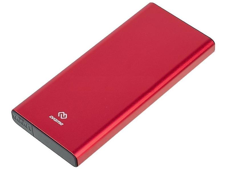 Внешний аккумулятор Digma Power Delivery DGT-10000 10000mAh Red
