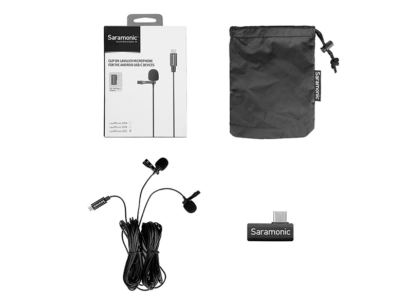 Микрофон Saramonic LavMicro U3C Lightning/USB-C/USB-A