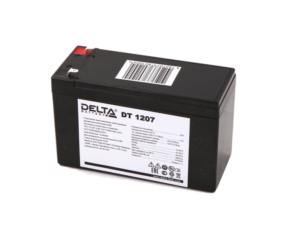 Аккумулятор Delta DT 1207 12V 7Ah delta акб delta moto ct 1207 agm ytx7a bs 7ач п п