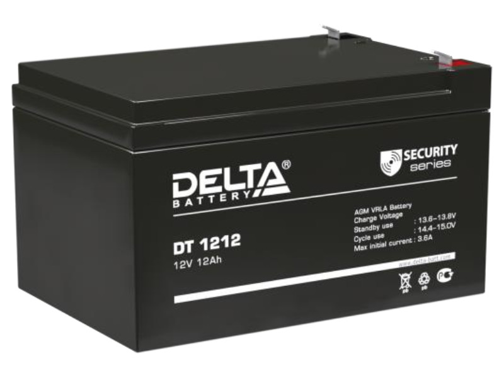 Аккумулятор Delta DT 1212 12V 12Ah
