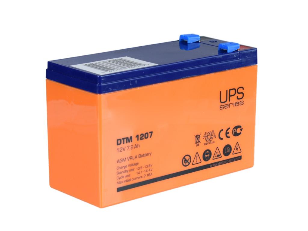 Аккумулятор для ИБП Аккумулятор Delta DTM 1207 12V 7Ah delta акб delta moto ct 1207 agm ytx7a bs 7ач п п