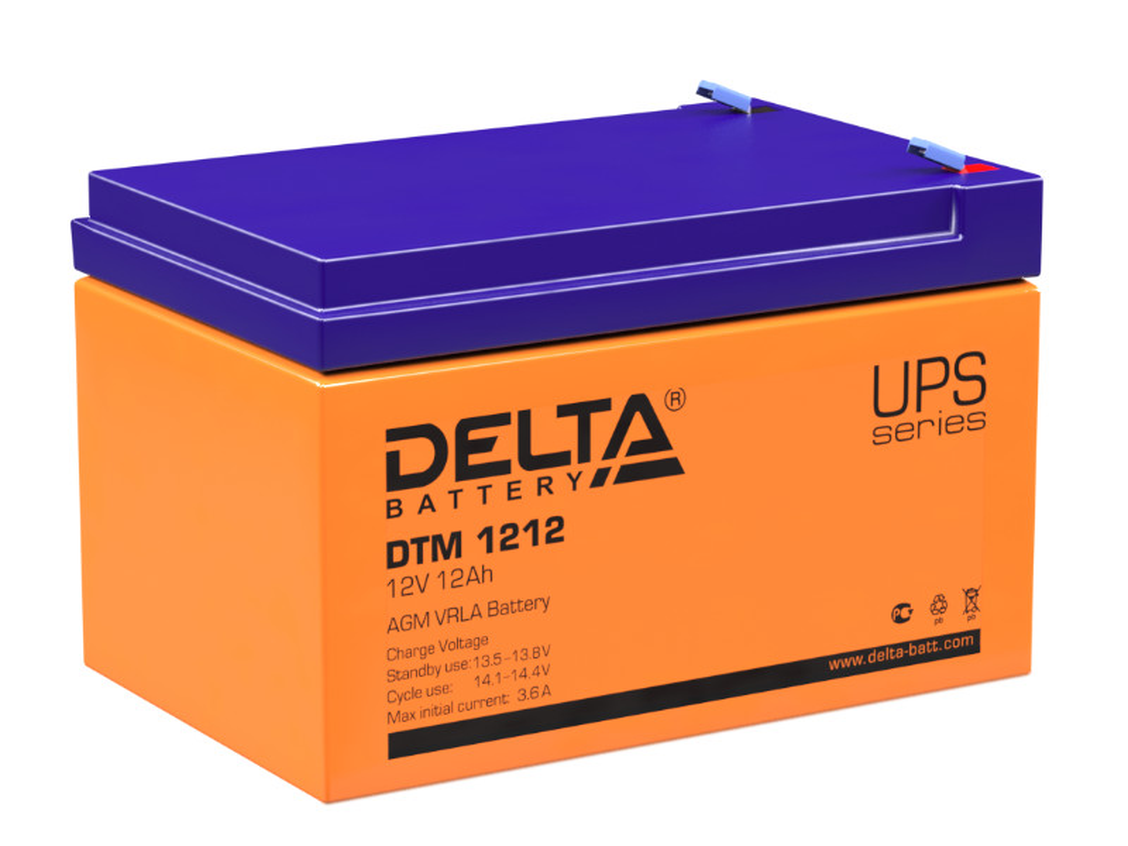Аккумулятор для ИБП Delta DTM 1212 12V 12Ah