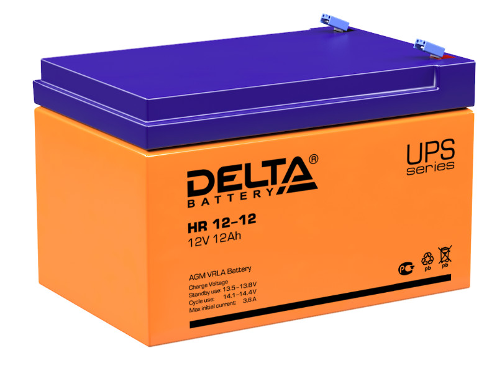Аккумулятор для ИБП Delta HR 12-12 12V 12Ah