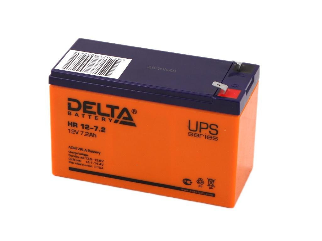 Аккумулятор для ИБП Delta HR 12-7.2 12V 7.2Ah